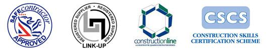 Safe Contractor Approved, LINK-UP Registered Supplier, Construction-line, CSCS Scheme